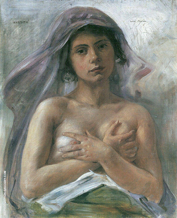 Innocentia 1890 Painting By Lovis Corinth - Reproduction Gallery