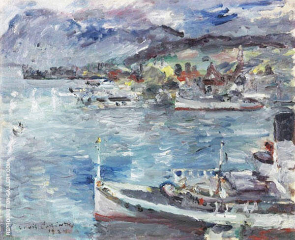Lake Lucern in The Morning 1924 Painting By Lovis Corinth
