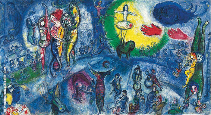 Le Grand Cirque 1956 Painting By Marc Chagall - Reproduction Gallery