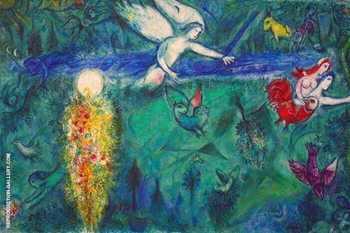 Adam and Eve Expelled from Paradise 1961 Painting By Marc Chagall
