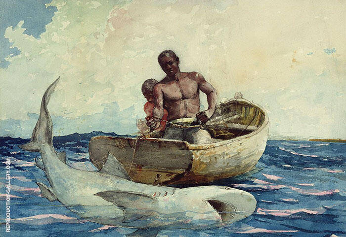 Shark Fishing 1885 By Winslow Homer