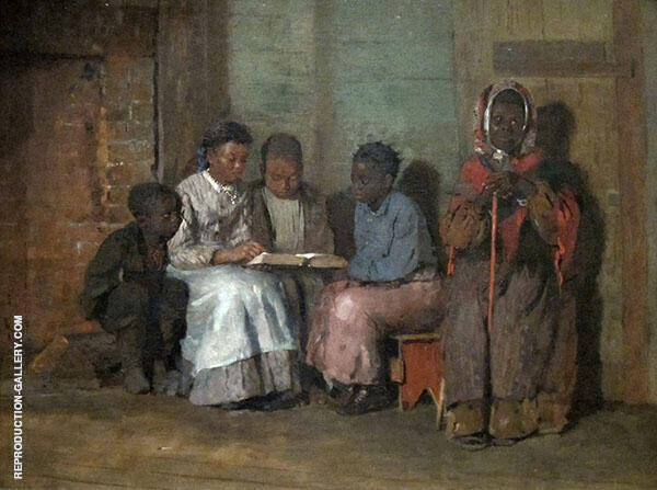 Sunday Morning in Virginia 1877 by Winslow Homer | Oil Painting Reproduction Replica On Canvas - Reproduction Gallery