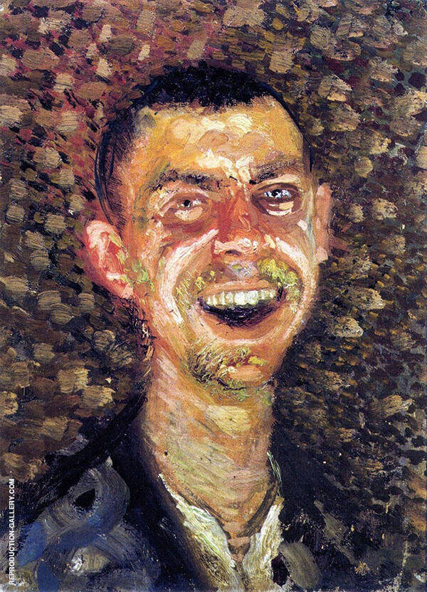 Laughing Self Portrait By Lovis Corinth