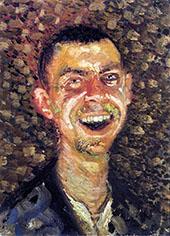 Laughing Self Portrait By Lovis Corinth