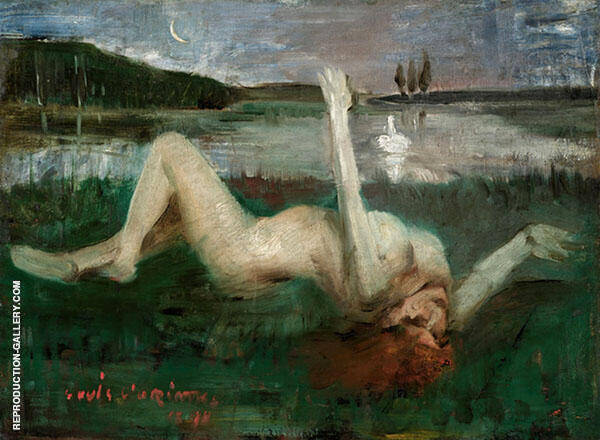 Leda and The Swan Painting By Lovis Corinth - Reproduction Gallery