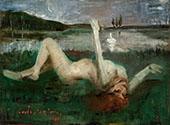 Leda and The Swan By Lovis Corinth