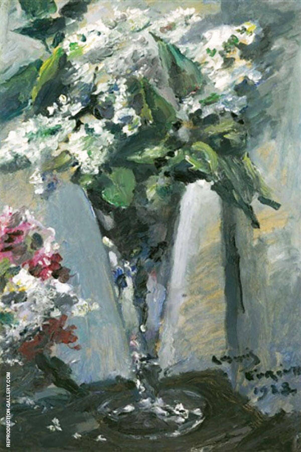 Liliacs In a Glass 1923 Painting By Lovis Corinth - Reproduction Gallery