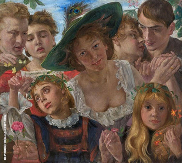 Joy of Life 1898 Painting By Lovis Corinth - Reproduction Gallery