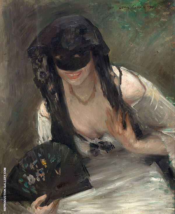Mask and White Dress 1902 Painting By Lovis Corinth - Reproduction Gallery