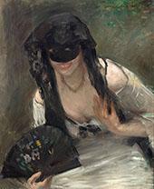 Mask and White Dress 1902 By Lovis Corinth