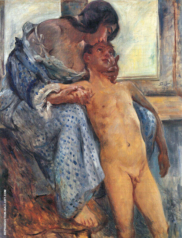 Mother Love Painting By Lovis Corinth - Reproduction Gallery