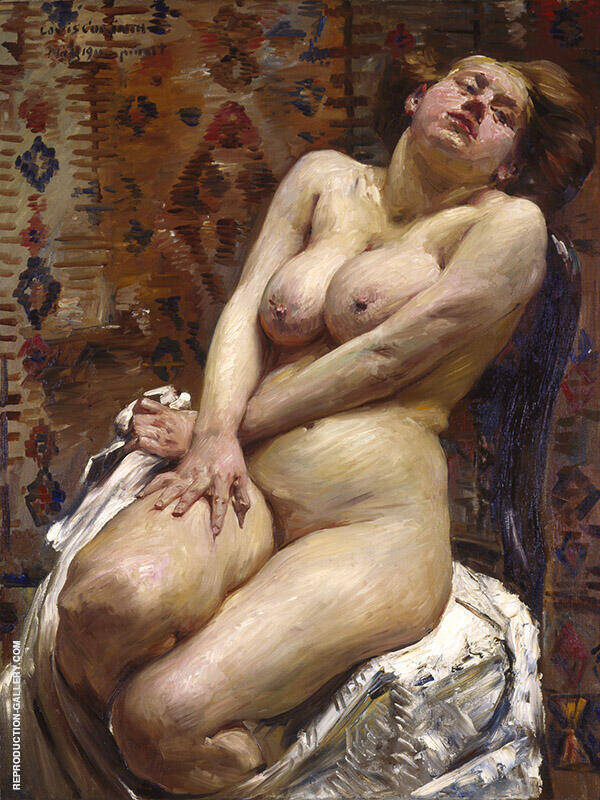 Nana Female Nude 1911 Painting By Lovis Corinth - Reproduction Gallery