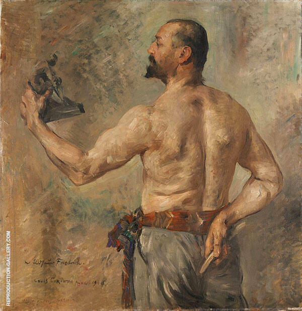 Portrait of The Sculptor Friedrich 1904 Painting By Lovis Corinth