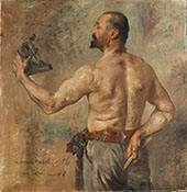 Portrait of The Sculptor Friedrich 1904 By Lovis Corinth