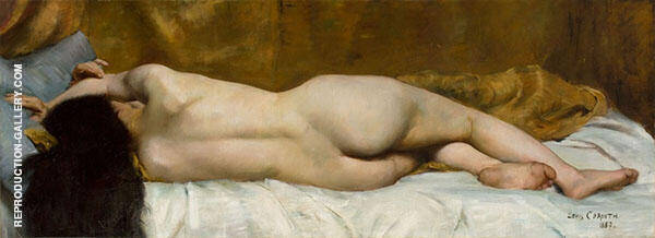Reclining Female Nude from The Back 1887 Painting By Lovis Corinth