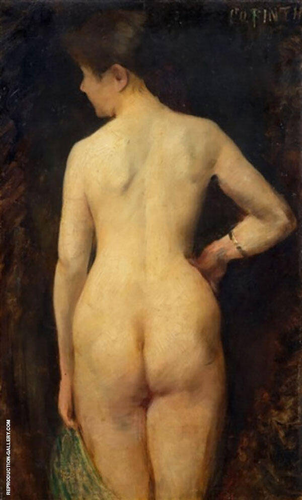 Remale Nude 1885 Painting By Lovis Corinth - Reproduction Gallery