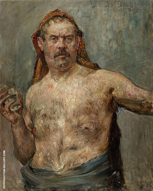 Self Portrait with Glass 1907 Painting By Lovis Corinth