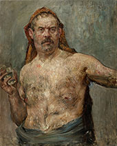 Self Portrait with Glass 1907 By Lovis Corinth