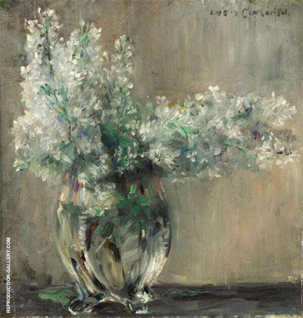 Still Life with White Lilacs Painting By Lovis Corinth