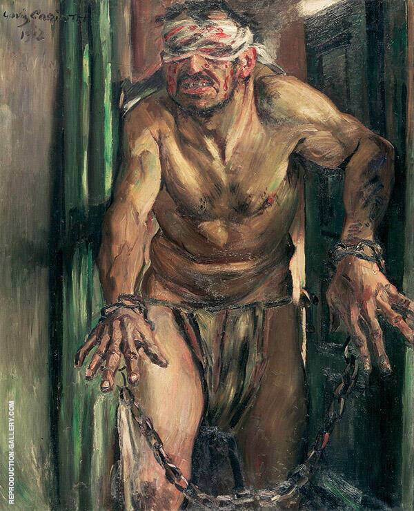 The Blinded Samson 1912 Painting By Lovis Corinth - Reproduction Gallery
