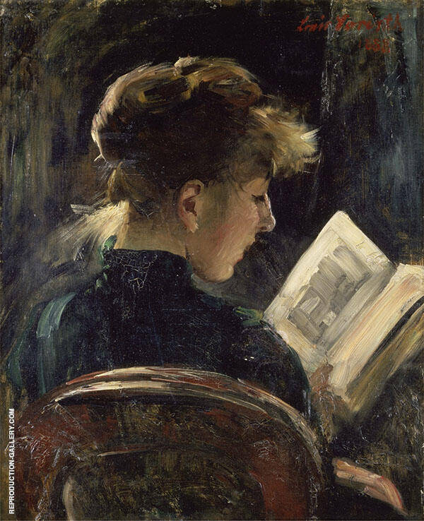 Woman Reading 1888 Painting By Lovis Corinth - Reproduction Gallery