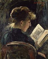 Woman Reading 1888 By Lovis Corinth