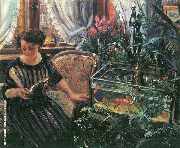Woman with Goldfish 1911 Painting By Lovis Corinth - Reproduction Gallery