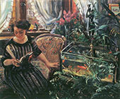 Woman with Goldfish 1911 By Lovis Corinth