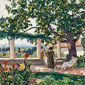 The Terrace At Laudun By Albert Andre