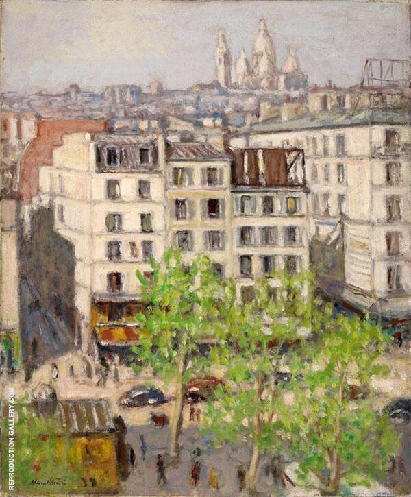 Boulevard de Clichy Spring Painting By Albert Andre - Reproduction Gallery