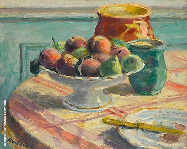 Compote of Peaches and Pears Painting By Albert Andre