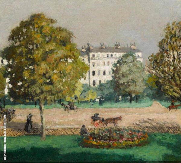 L'avenue du bois de Boulogne 1901 Painting By Albert Andre