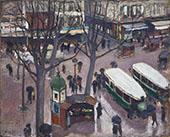 Les Autobus Place Pigalle By Albert Andre