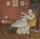 Old Lady in White Seated 1912 By Albert Andre