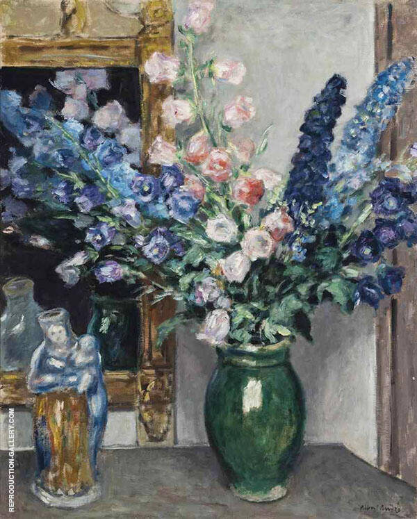 Pink and Blue Campanula Painting By Albert Andre - Reproduction Gallery