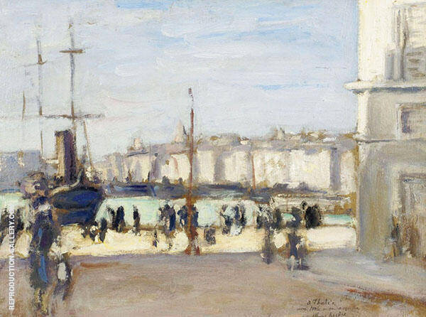 Port of Marseille 1918 Painting By Albert Andre - Reproduction Gallery