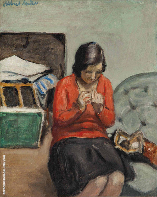 Seated Woman 1925 Painting By Albert Andre - Reproduction Gallery