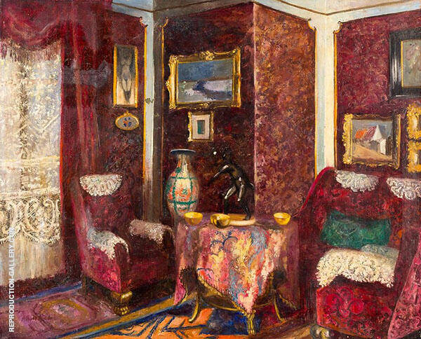 The Interior Painting By Albert Andre - Reproduction Gallery