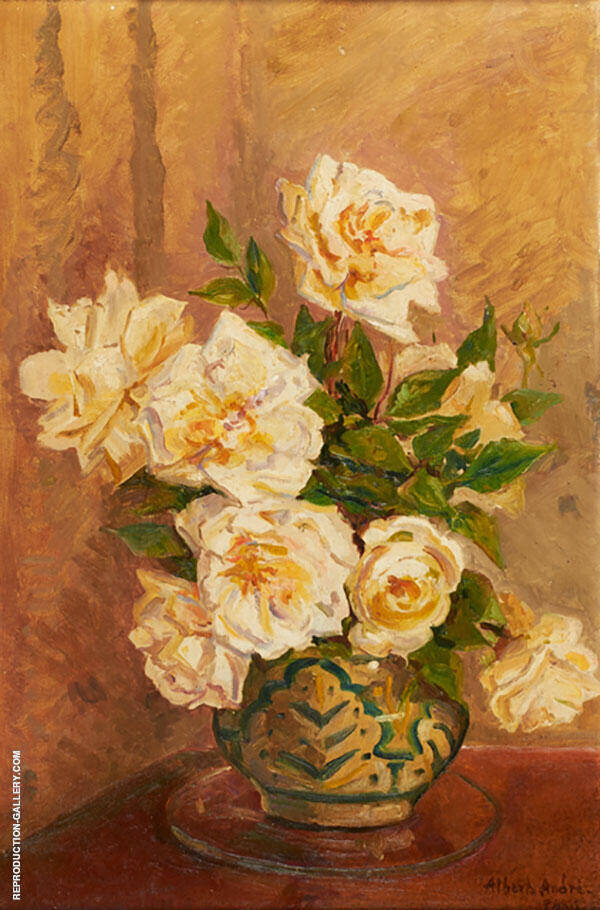 Untitled Roses Painting By Albert Andre - Reproduction Gallery