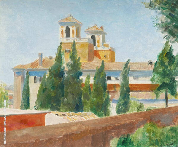 View of The Villa Medici In Rome Painting By Albert Andre