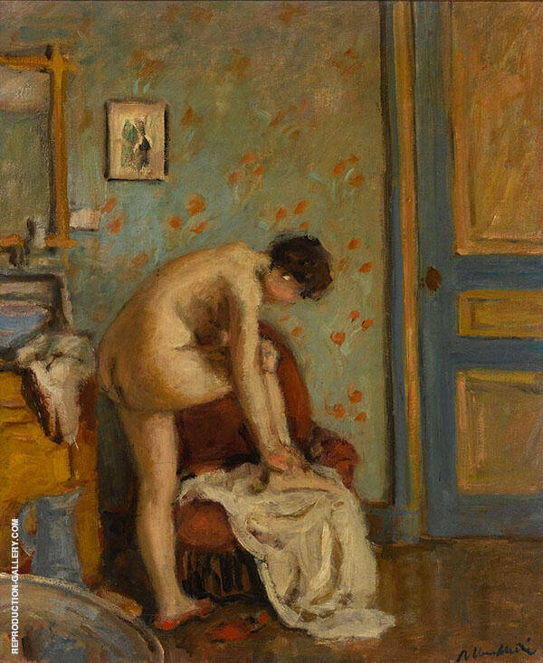 Woman at her Toilette Painting By Albert Andre - Reproduction Gallery