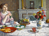 Woman Eating Grapes By Albert Andre