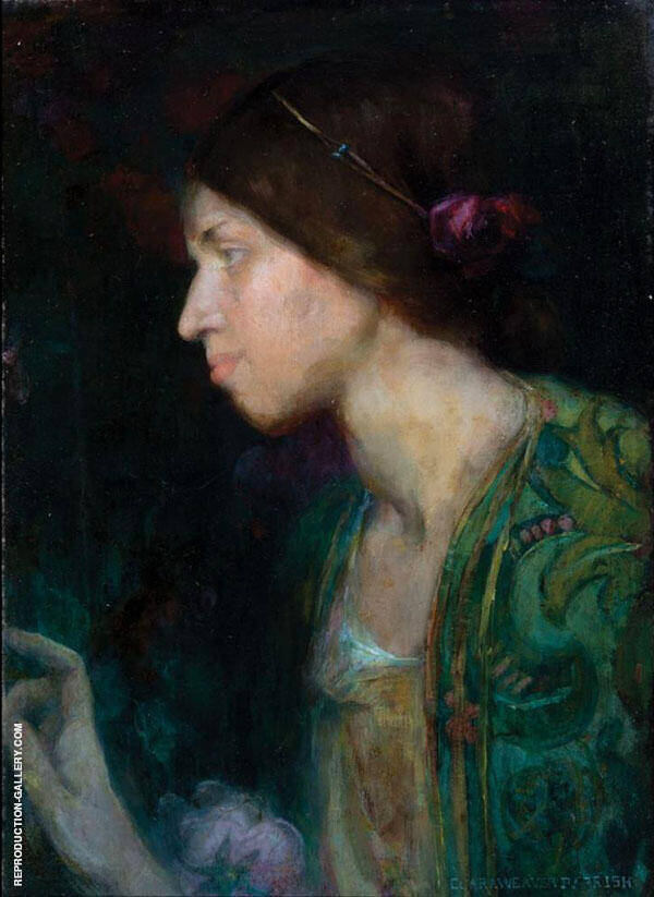 Portrait of a Woman Painting By Clara Weaver Parrish