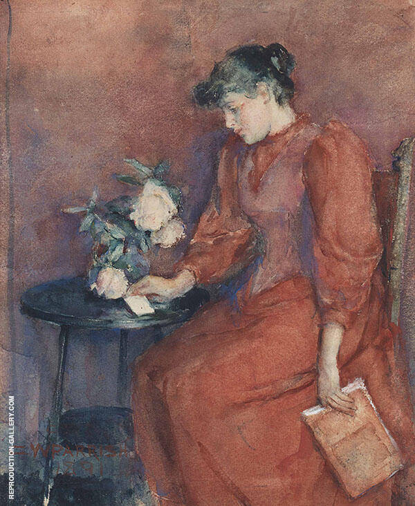 The Letter Painting By Clara Weaver Parrish - Reproduction Gallery