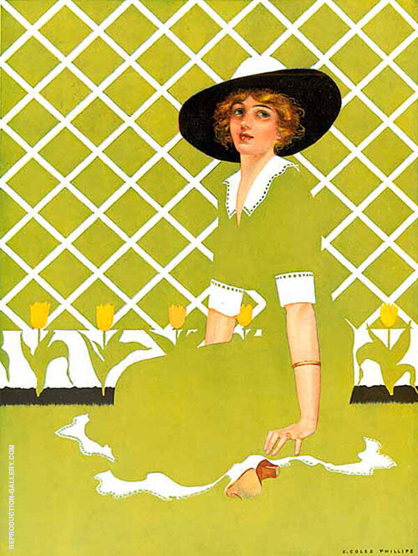 Apollo Chocolates 1923 Painting By Coles Phillips - Reproduction Gallery