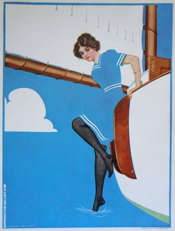 A Young Man's Fancy 1912 Painting By Coles Phillips - Reproduction Gallery
