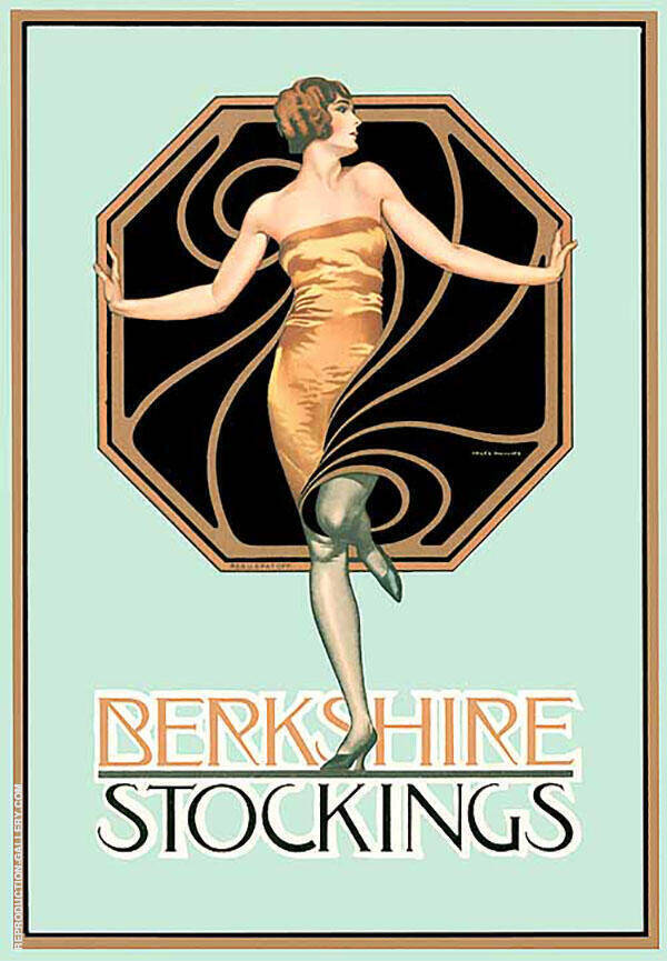 Berkshire Stockings Painting By Coles Phillips - Reproduction Gallery