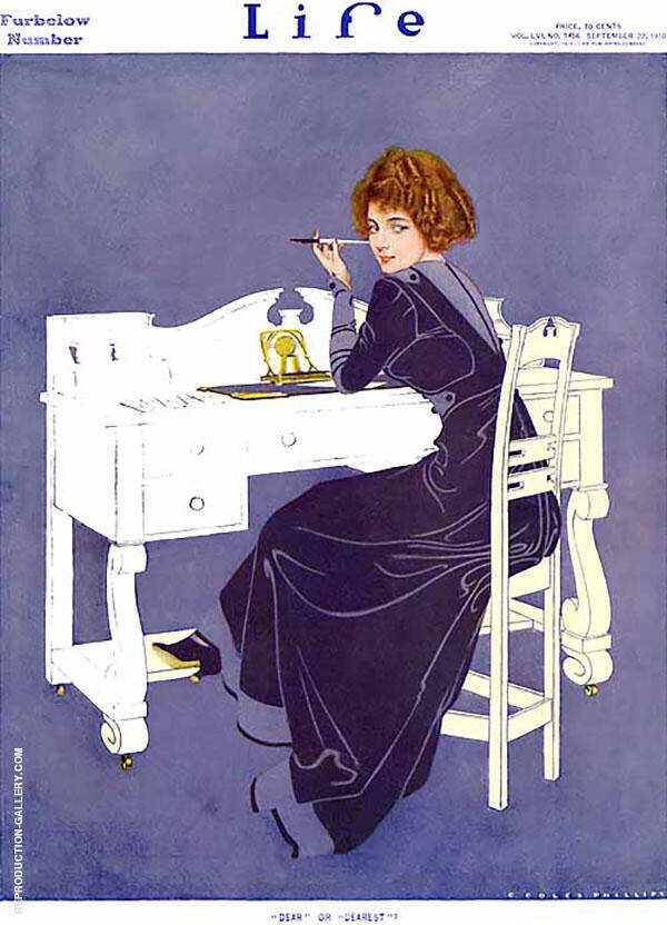 Dear or Dearest 1910 Painting By Coles Phillips - Reproduction Gallery
