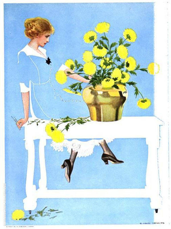 Fadeaway Girl II Painting By Coles Phillips - Reproduction Gallery