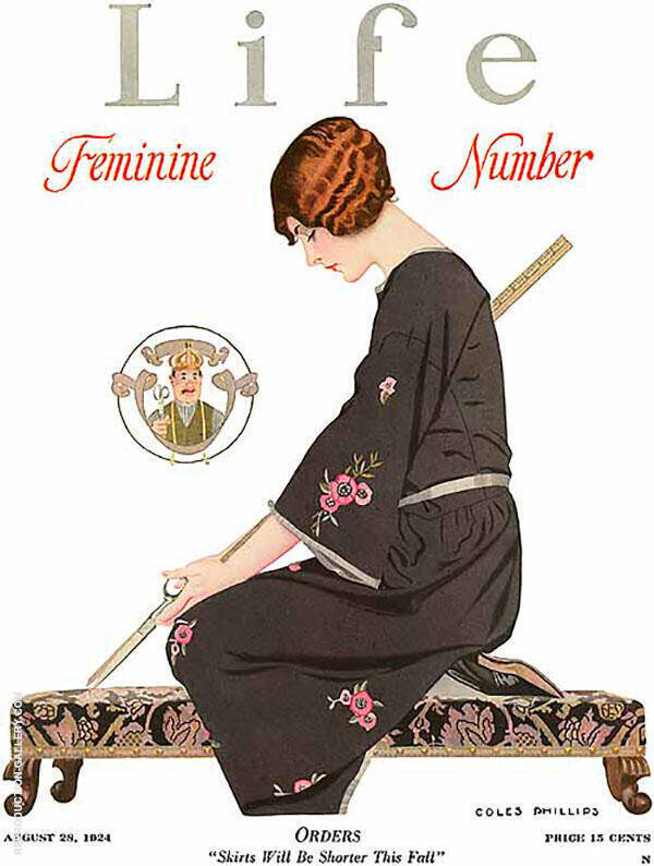 Feminine Number 1924 By Coles Phillips